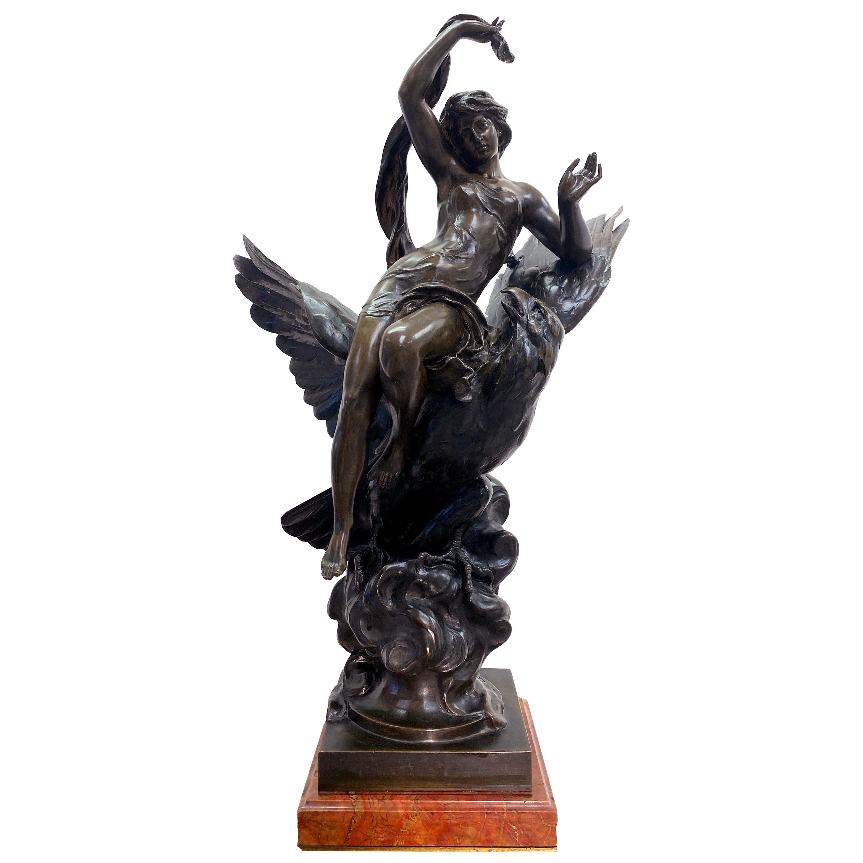 19th Century French Patinated Bronze Statue