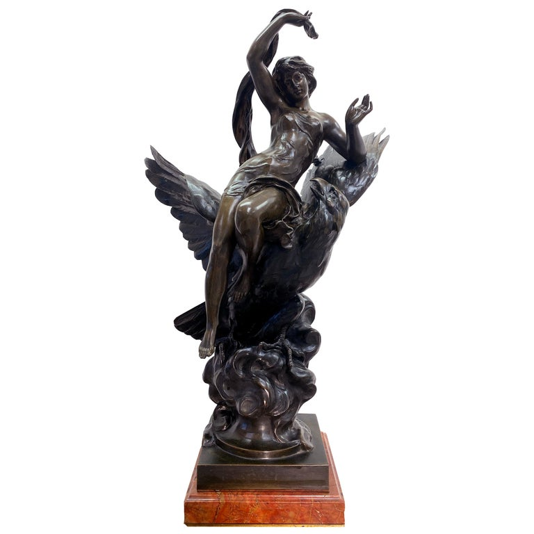 19th Century French Patinated Bronze Statue For Sale