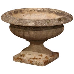 19th Century French Patinated Carved Stone Garden Flower Jardinière