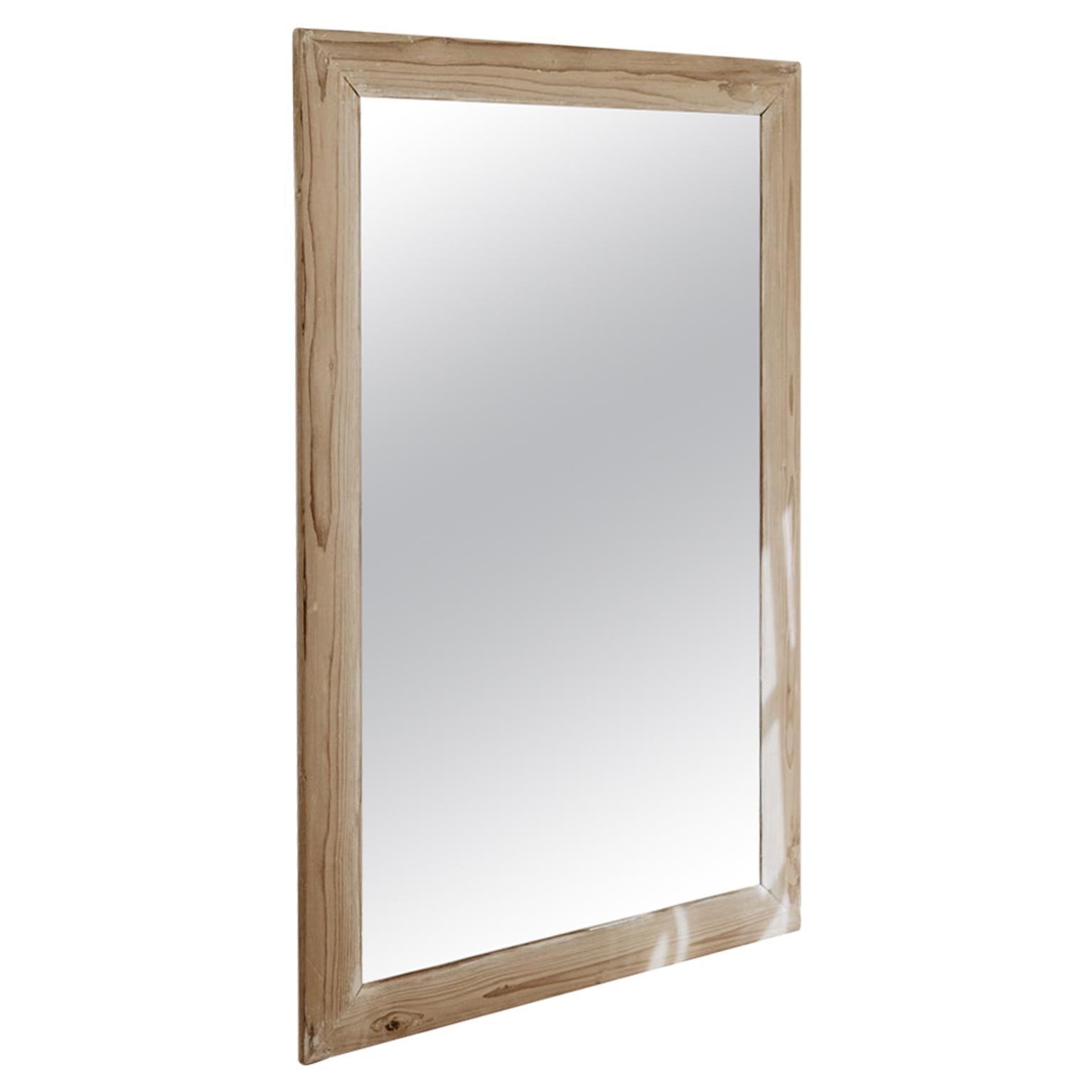 19th Century French Pine Mirror
