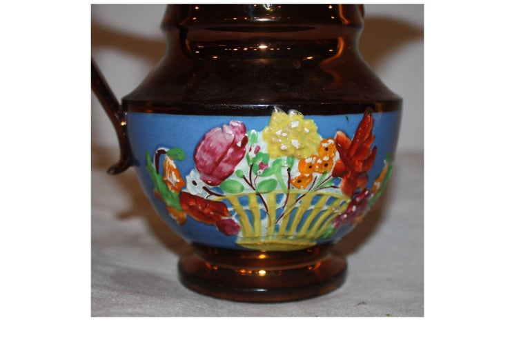 Ceramic 19th Century French Pitcher For Sale