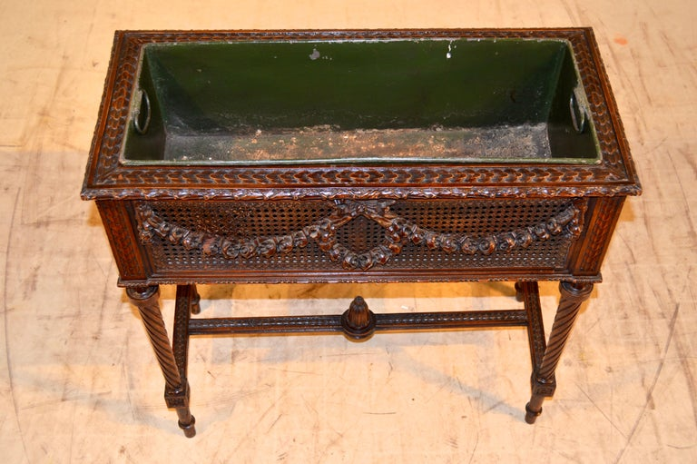 19th Century French Planter on Stand For Sale 1