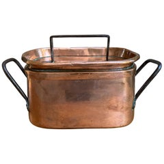19th Century French Polished Copper and Iron Pot Pan Cooking Dish Lid