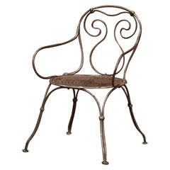 19th Century French Polished Iron Child Armchair
