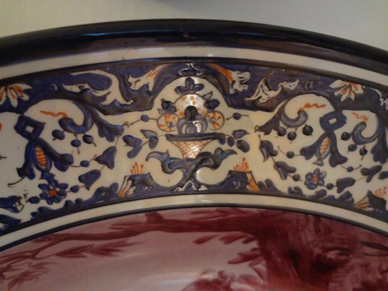 European 19th Century French Porcelain Allegorical Charger For Sale