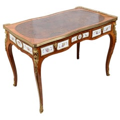 19th Century French Porcelain Mounted Ladies Writing Desk