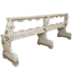 19th Century French Prayer Bench with Angels