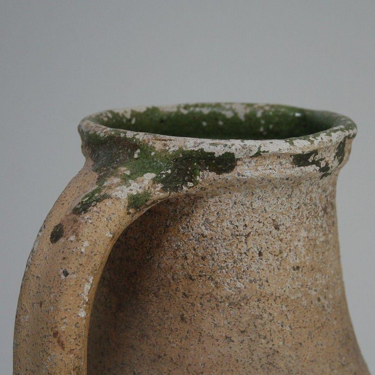 19th Century French Primitive Glazed Earthenware Pitchers For Sale 5