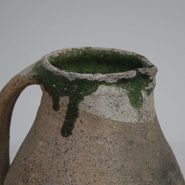 19th Century French Primitive Glazed Earthenware Pitchers For Sale 6