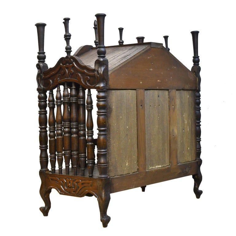 Hand-Carved 19th Century French Provencal Panetière Bread Cupboard in Carved Chestnut For Sale
