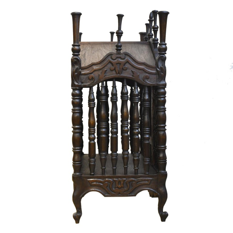 19th Century French Provencal Panetière Bread Cupboard in Carved Chestnut For Sale 1