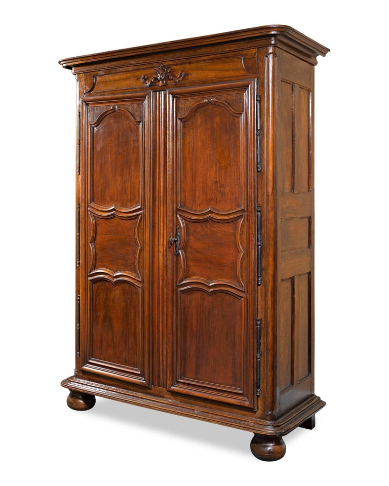 19th Century French Provincial Armoire  In Excellent Condition For Sale In New Orleans, LA