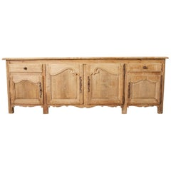 19th Century French Provincial Bleached Oak Sideboard Enfilade