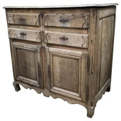19th Century French Provincial Cupboard in Oakwood, 1890s