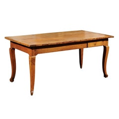 19th Century French Provincial Desk in Fruitwood