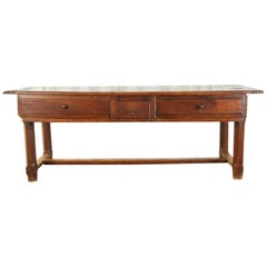 19th Century French Provincial Farmhouse Work Table or Console