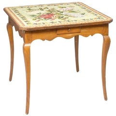 19th Century French Provincial Fruitwood Games Table