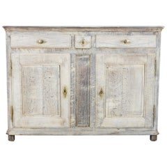19th Century French Provincial Limed Oak Buffet
