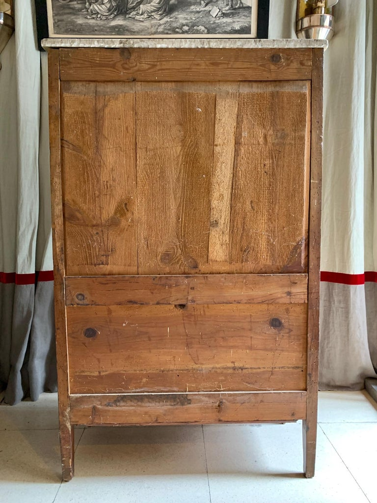19th Century French Provincial Louis XVI Style Secretaire For Sale 12