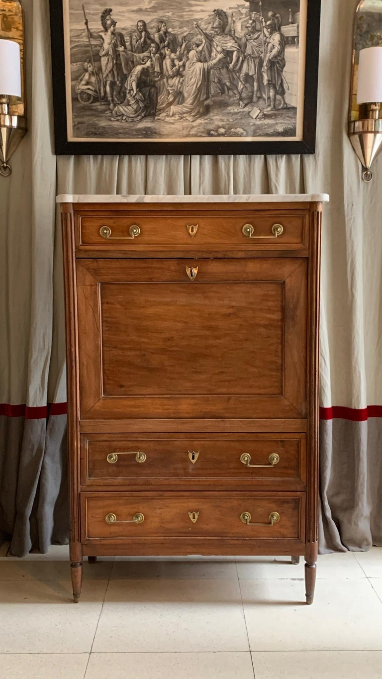 19th Century French Provincial Louis XVI Style Secretaire For Sale 14