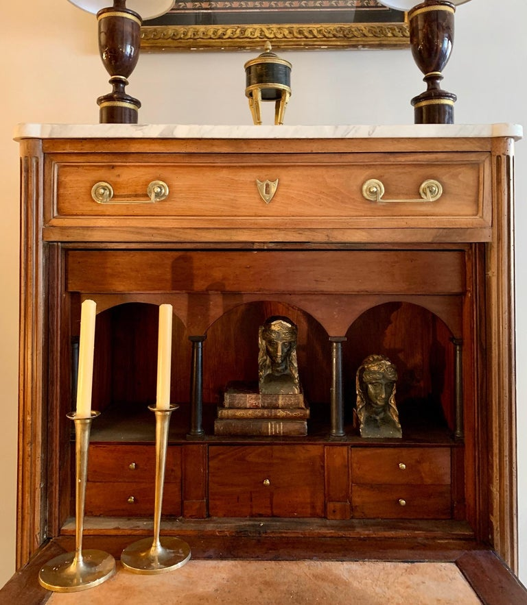 19th Century French Provincial Louis XVI Style Secretaire In Good Condition For Sale In Madrid, ES