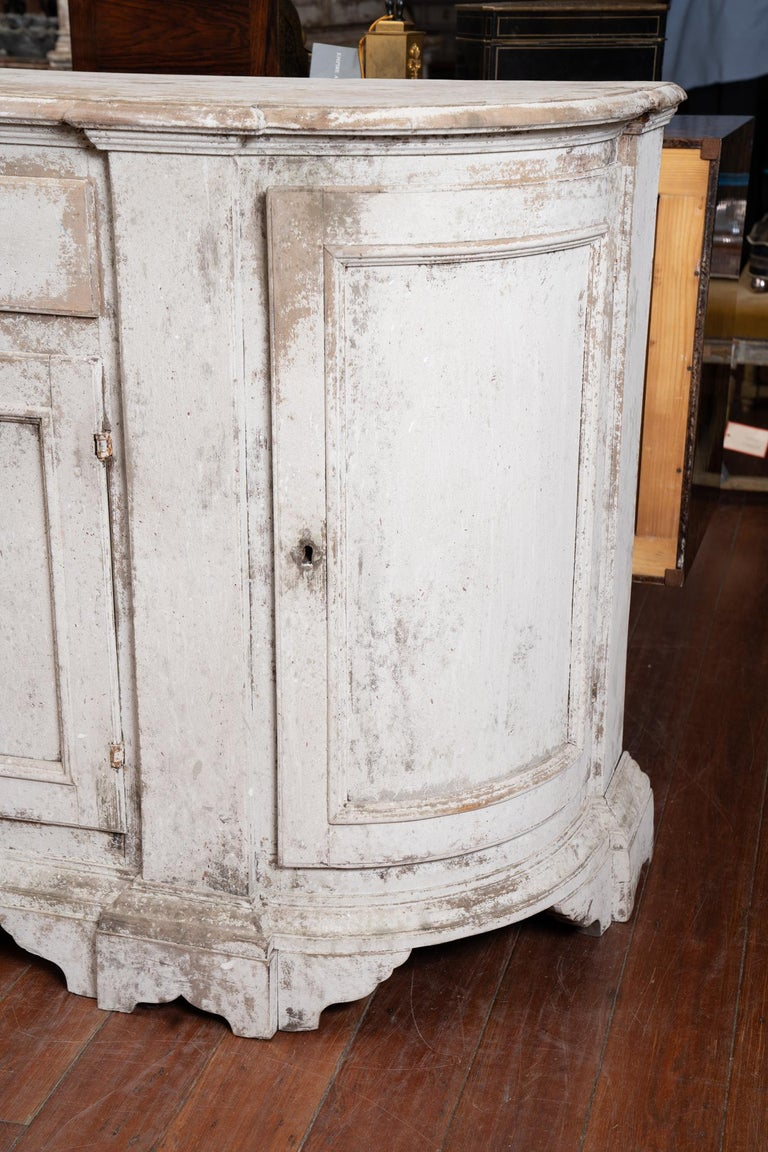 Late 19th Century 19th Century French Provincial Painted Enfilade For Sale
