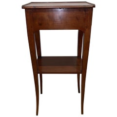 19th Century French Provincial Walnut Diminutive Side Table