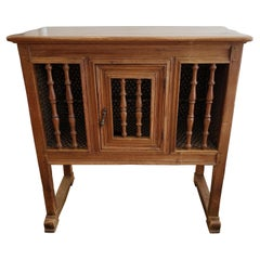 """19th Century French Provincial Walnut """"Panettiere"""" Bread Cabinet"""