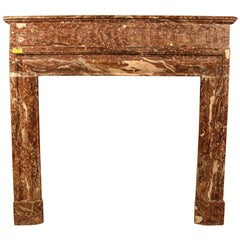 19th Century French Red Marble Fireplace Mantel