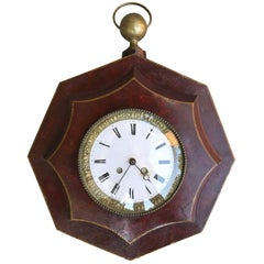 19th Century French Red Tole Clock