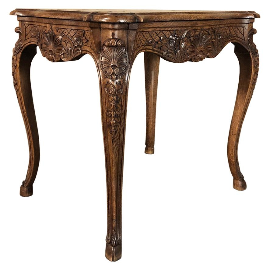 19th Century French Regence Carved End Table
