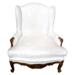 19th Century French Regence Giltwood Marquise Chair