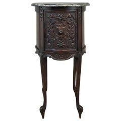 19th Century French Regence Marble-Top Nightstand