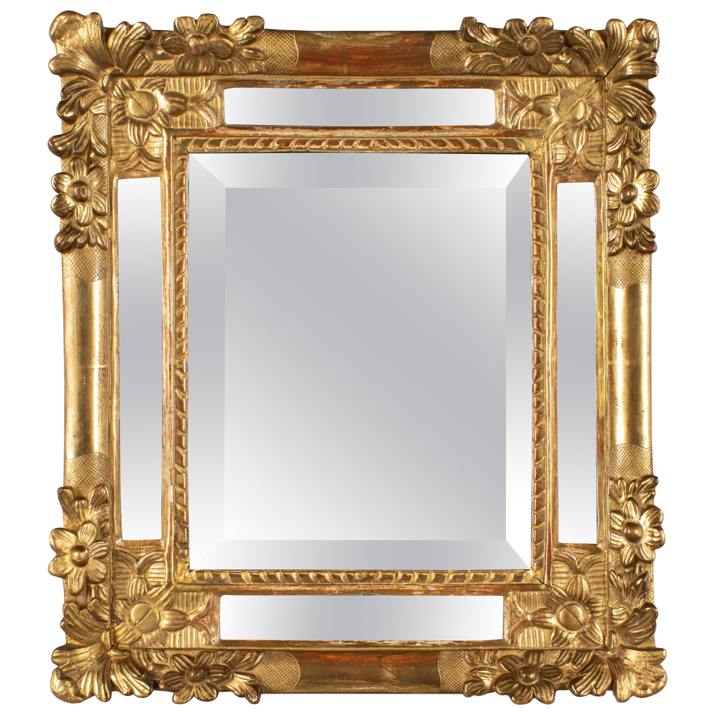 19th Century French Regence Style Carved Giltwood Mirror