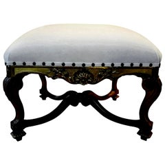 19th Century French Regence Style Giltwood Bench