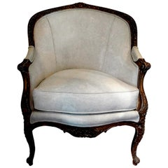 19th Century French Regence Style Giltwood Bergère