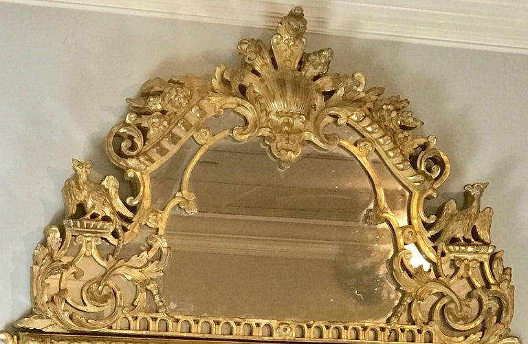 19th Century French Regence Style Giltwood Mirror 5