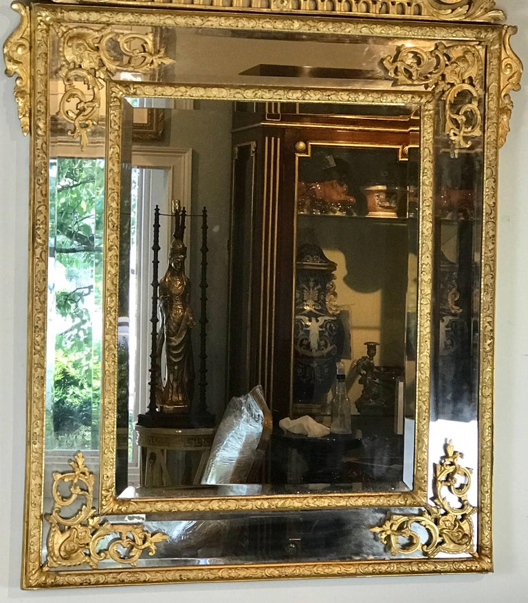 19th Century French Regence Style Giltwood Mirror 6