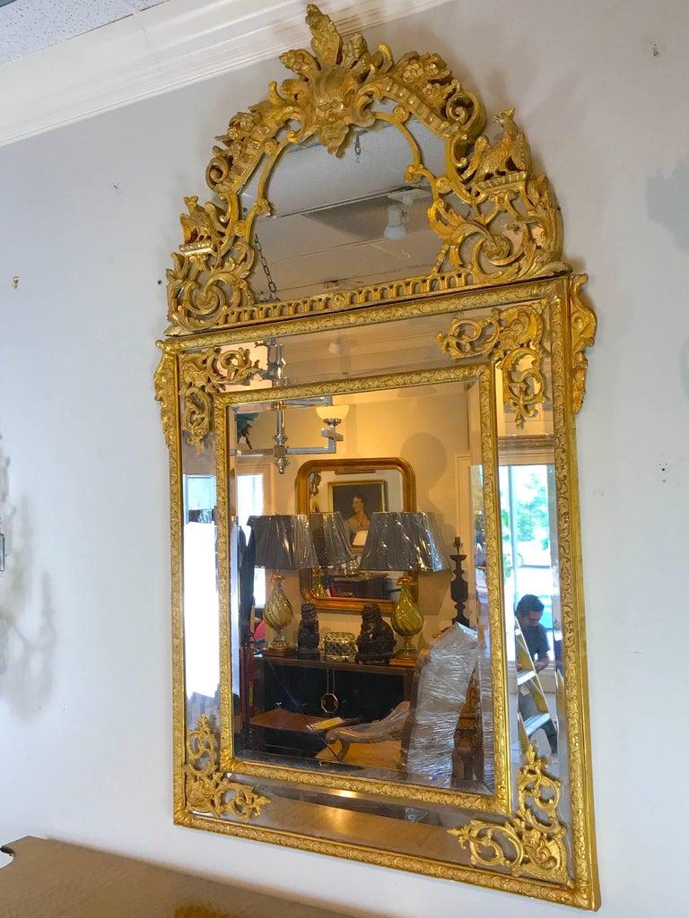 Régence 19th Century French Regence Style Giltwood Mirror