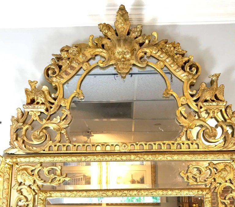 19th Century French Regence Style Giltwood Mirror 1