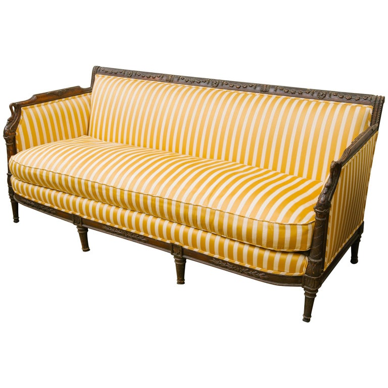 Century Furniture For Sale: 19th Century French Regency Sofa For Sale At 1stdibs