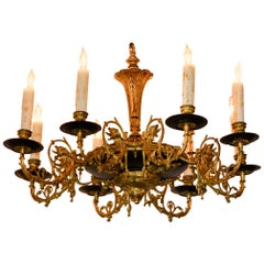 19th Century French Renaissance Bronze Chandelier