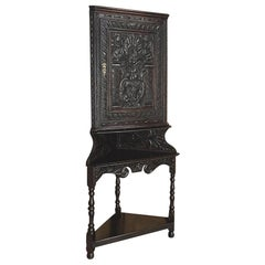 19th Century French Renaissance Raised Corner Cabinet