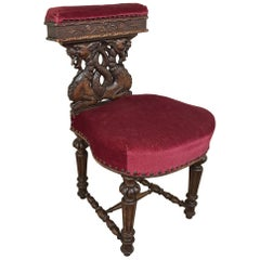 19th Century French Renaissance Smoking Chair