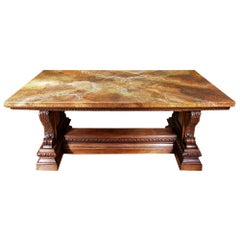 19th Century French Renaissance Style Walnut Dining Table