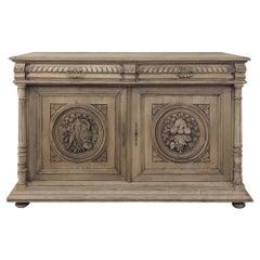 19th Century French Renaissance Stripped Oak Buffet