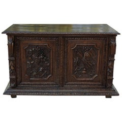 19th Century French Renaissance Trunk with Grape and Wheat Harvest
