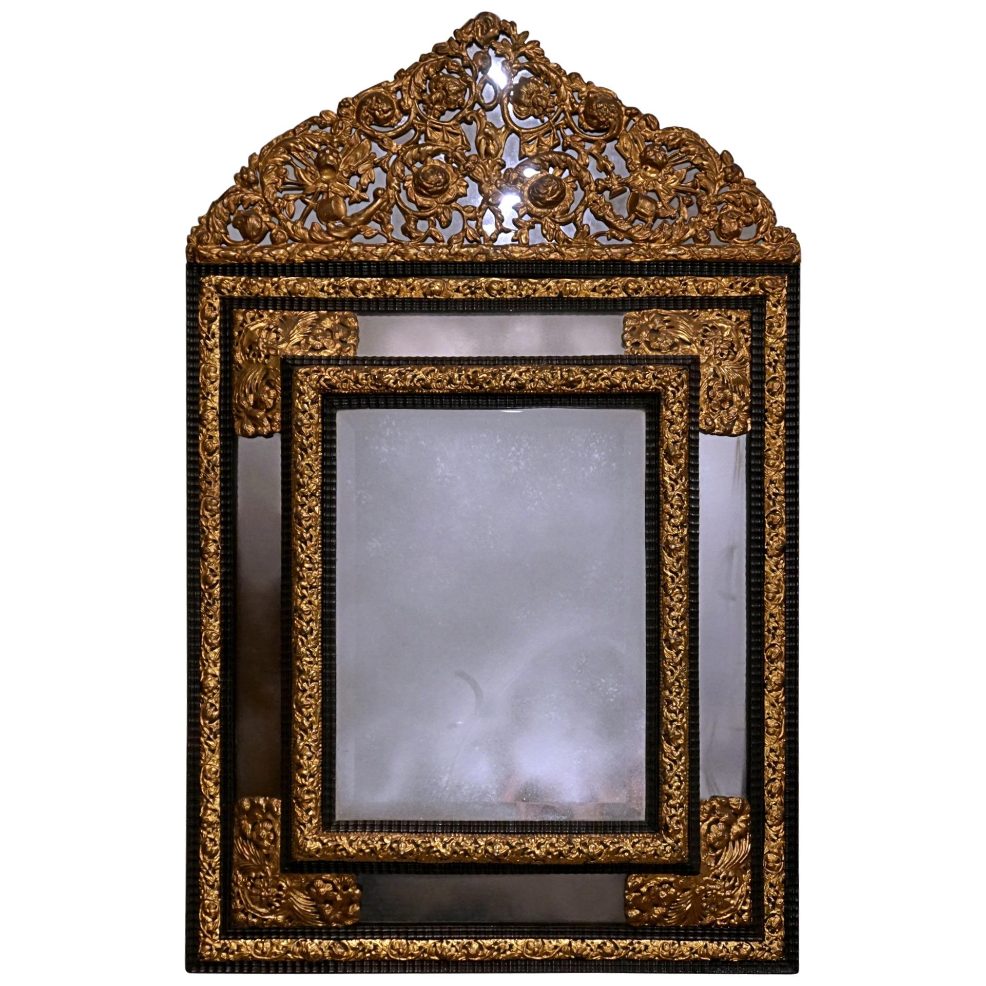 19th Century French Repusse Mirror
