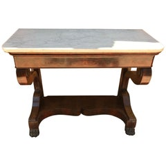 19th Century French Restauration Style Mahogany Console Table, 1850s