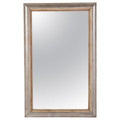 19th Century French Ripple Frame Mirror